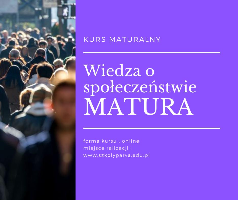 Wiedza o społeczeństwie MATURA