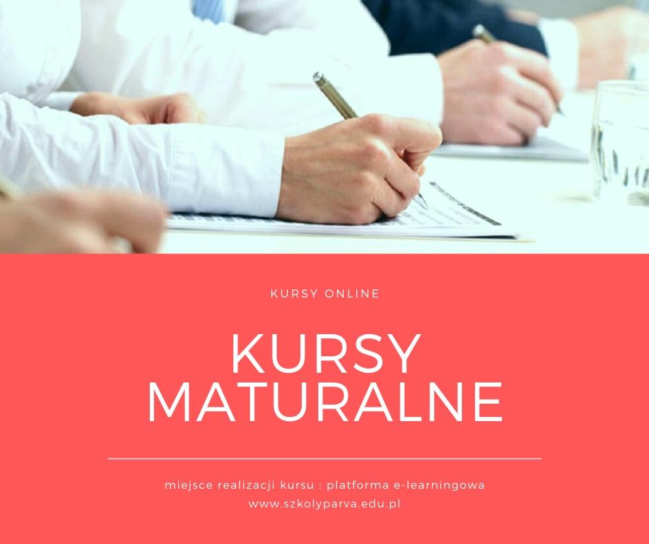 Kursy MATURALNE